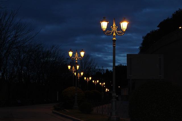 světlo v parku