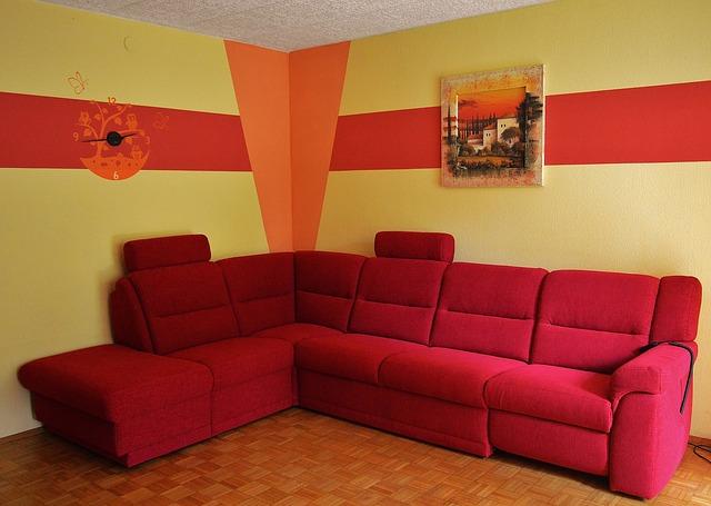 červená sedačka