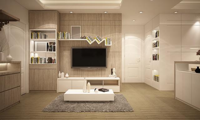 moderní úprava skříněk v obýváku